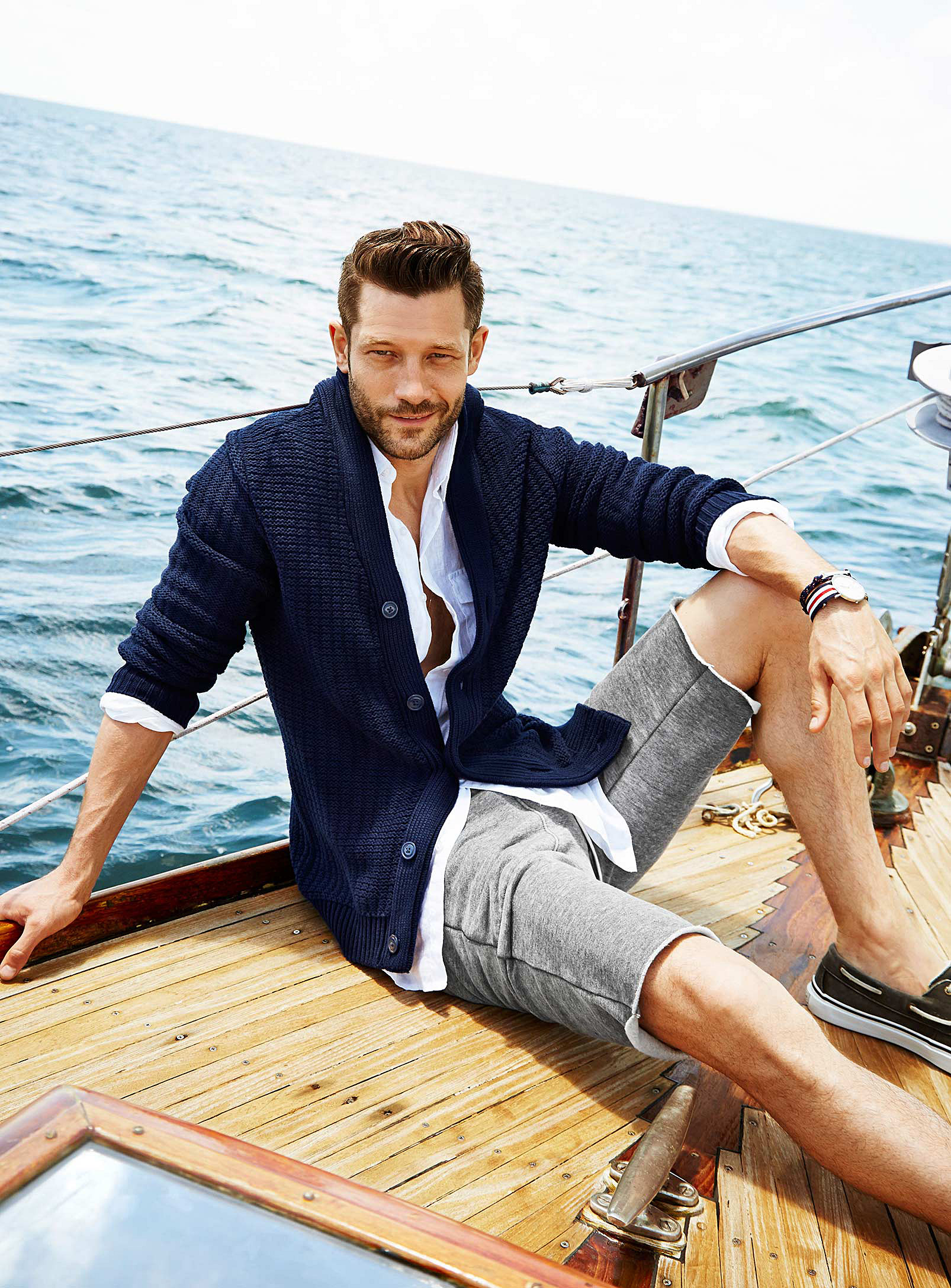 John Halls Models Nautical Styles for Simons Summer 2014 Lookbook