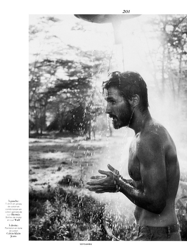 Ryan Burns Travels to Africa for Vogue Hommes International