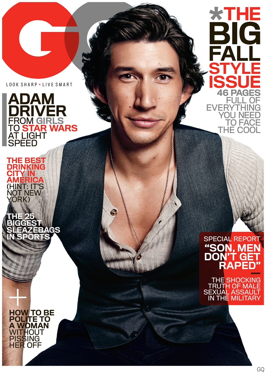 Adam Driver Covers GQ September 2014 Issue, Talks Life