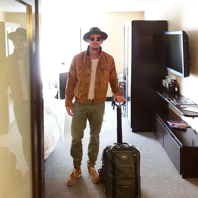 Adam Senn travels in style.
