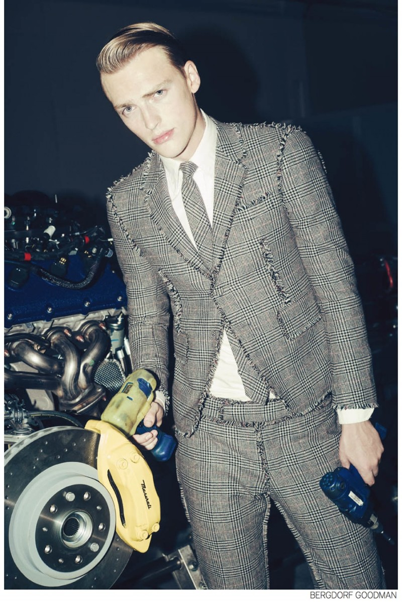 Victor wears Thom Browne