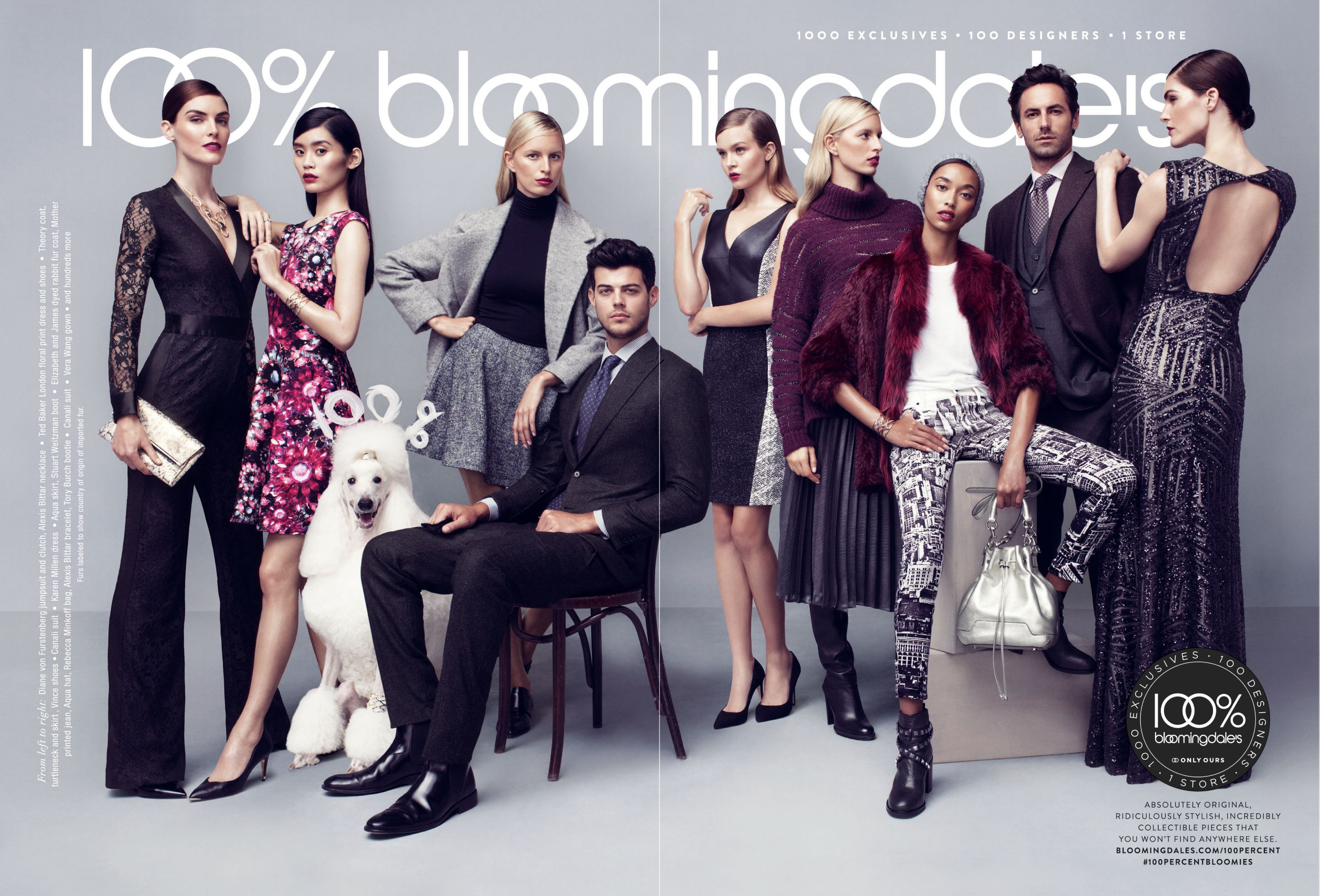 Josh Wald + Felix Bujo for Bloomingdale's 100% Fall 2014 Campaign