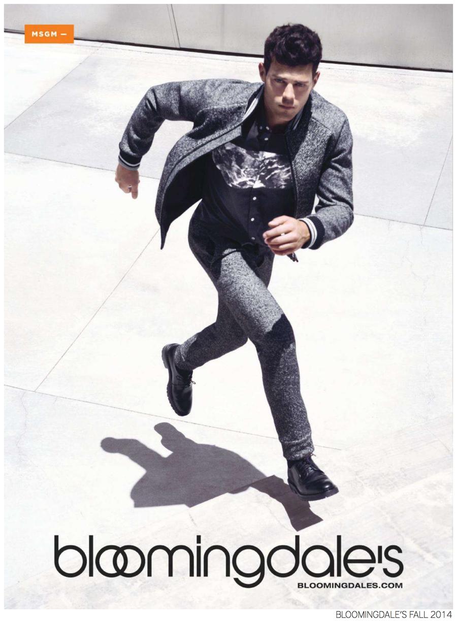 Felix Bujo Rocks Fall 2014 Menswear Fashions for Bloomingdale's Advertorial