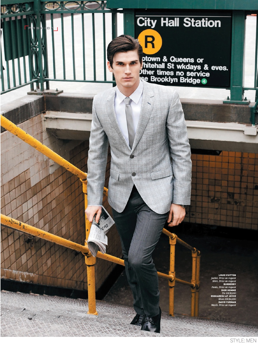 Bobby Nicholas Models Modern Suiting Styles for Style: Men