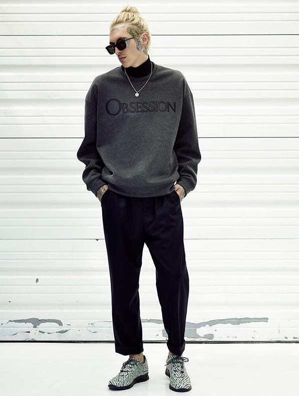 Bradley Soileau Models Calvin Klein Obsession Sweatshirt for Forward