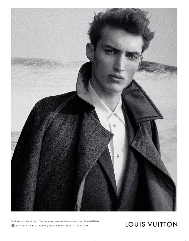 Charlie France Dons Luxe Tailored Outerwear for Louis Vuitton Fall/Winter 2014 Ad Campaign