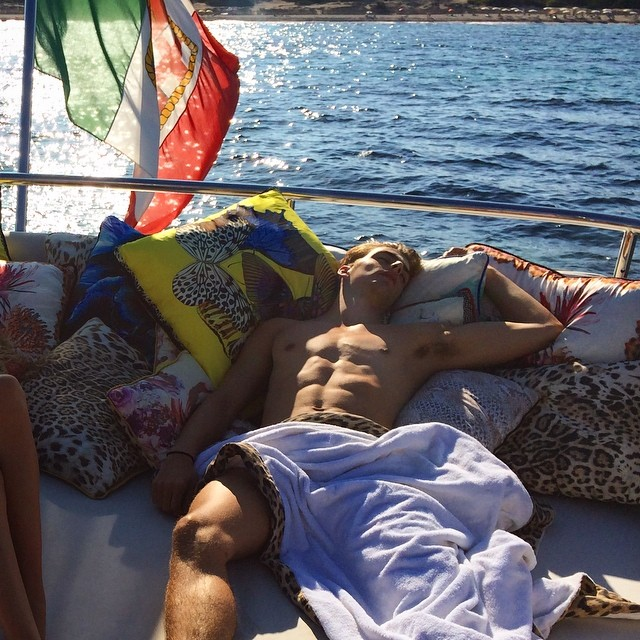 Daniel van der Deen passed out on vacation...must be nice