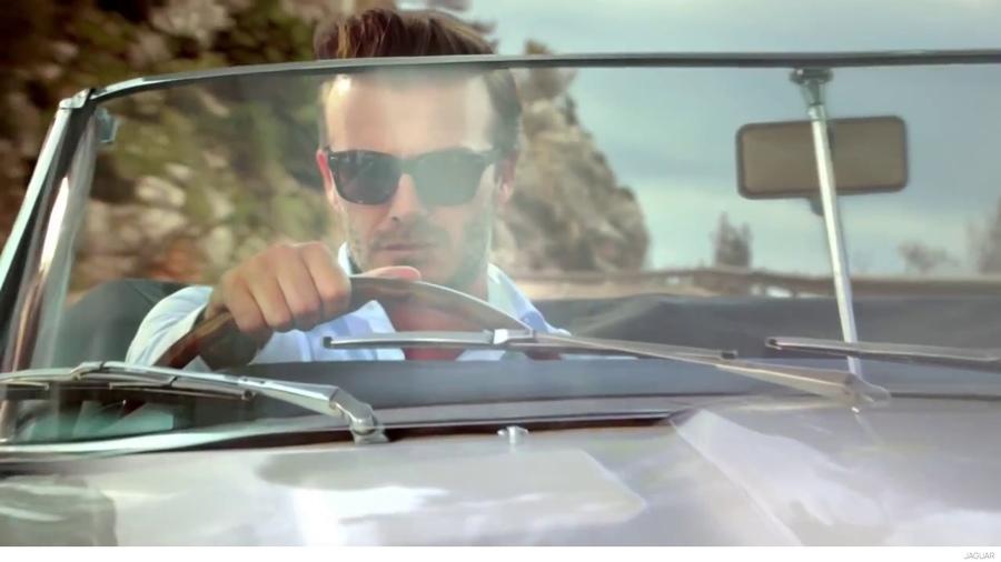 David Beckham Stars in a Stylish Jaguar TV Spot