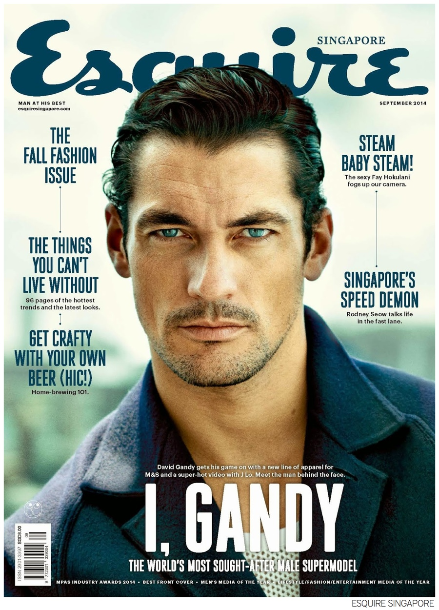 David Gandy Covers Esquire Singapore September 2014 Issue