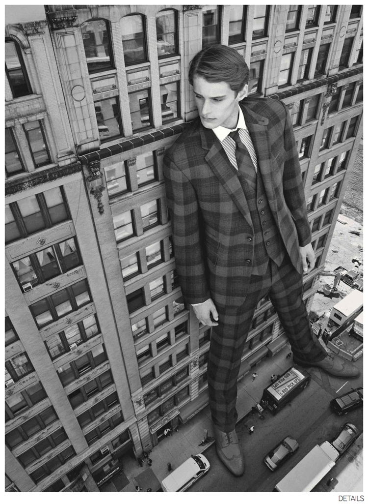 Jeremy Matos + Richard Detwiler are Larger Than Life for Details Fall 2014 Suiting Fashion Editorial