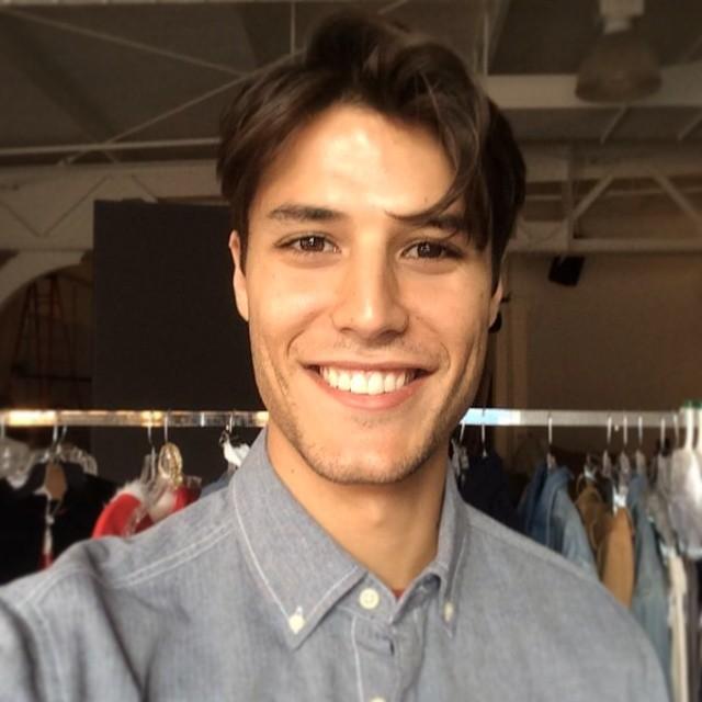 Emilio Flores is all smiles behind the scenes