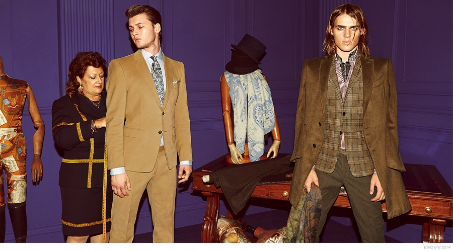 Etro Delivers Houndstooth, Windowpane & Pinstripe Suits for Fall/Winter 2014