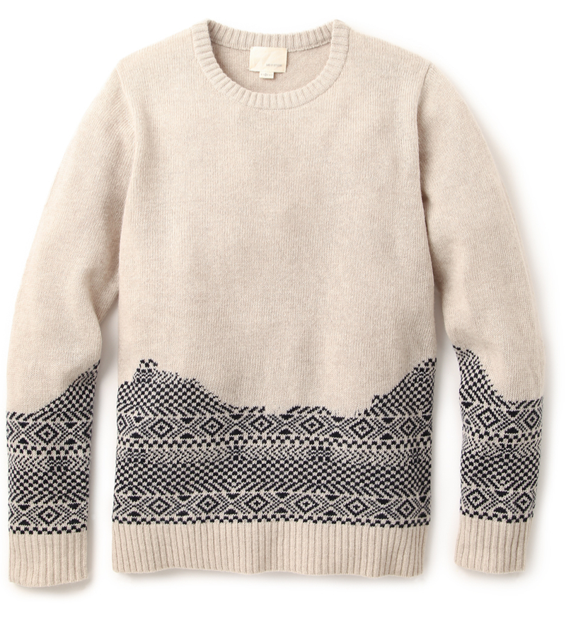 Band of Outsiders Broken Fair Isle Sweater