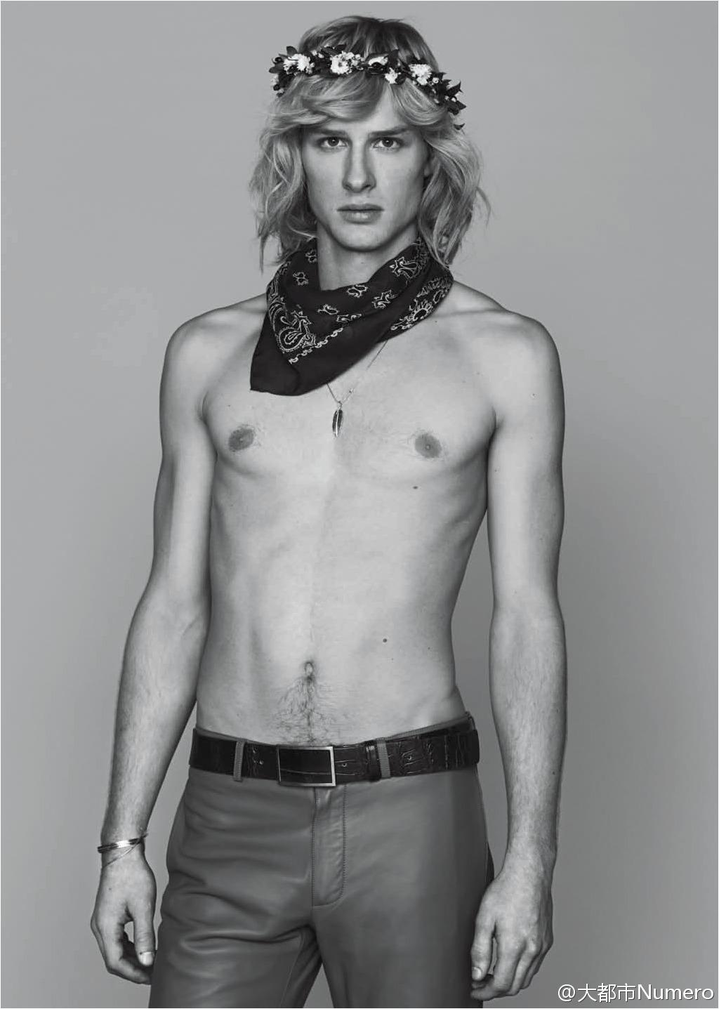 Frederik Meijnen Rocks Bohemian Fashion Styles for Numéro Homme China