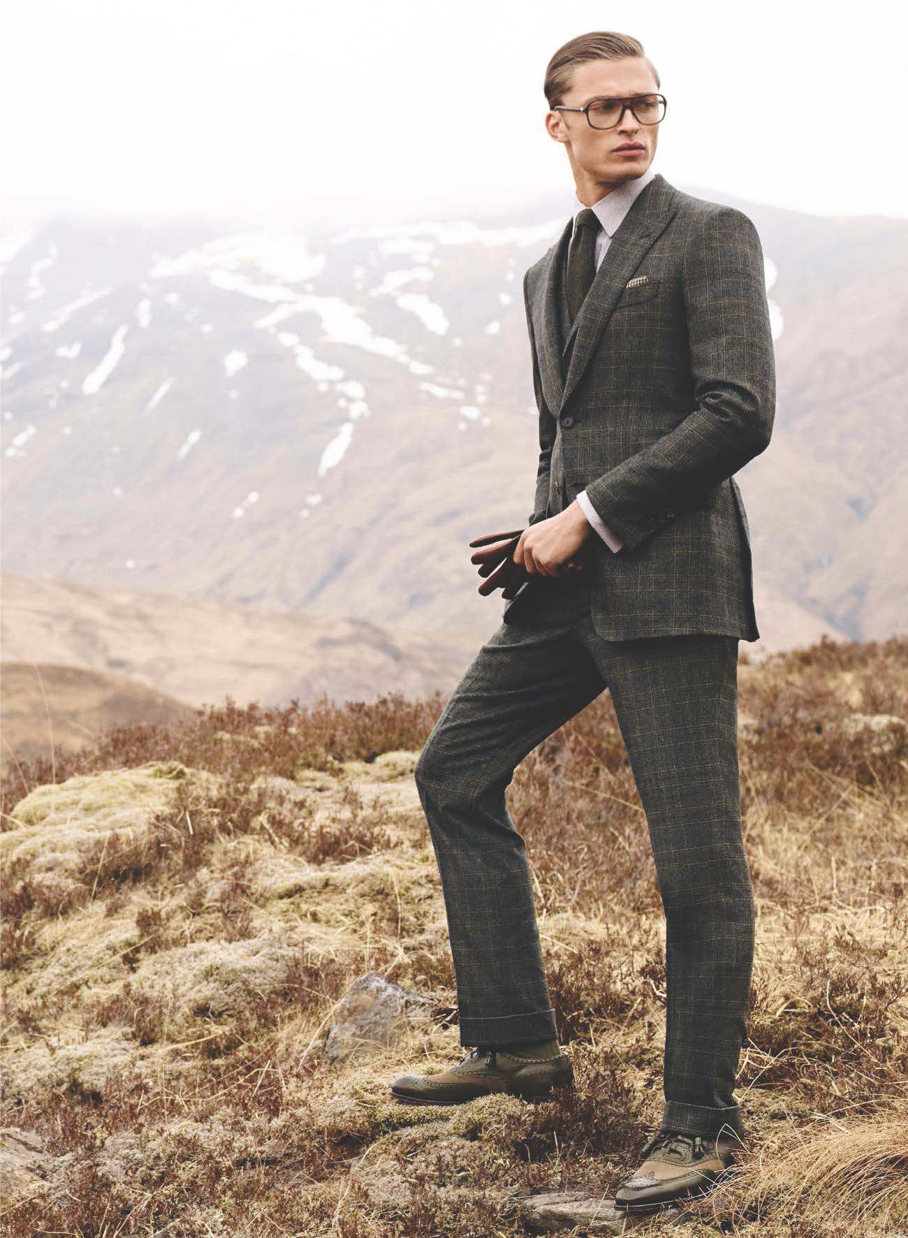 Harvey Haydon Dons Sartorial Suiting for Gieves & Hawkes Fall 2014 Campaign