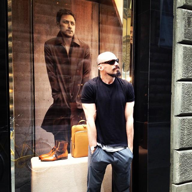 Hugh Jackman Pokes Fun at James McAvoy's Prada Fall 2014 Campaign