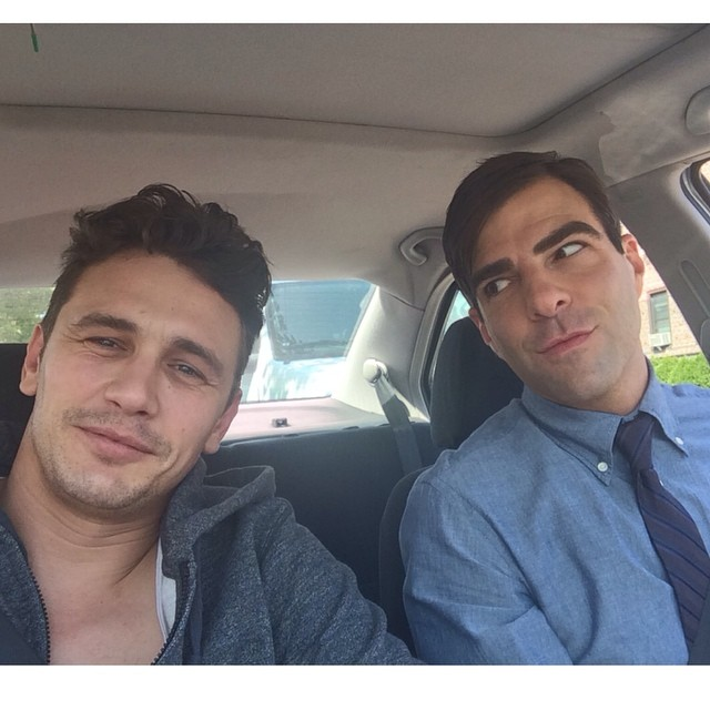 James Franco and Zachary Quinto pose for a photo posted to the actor's Instagram on August 10th