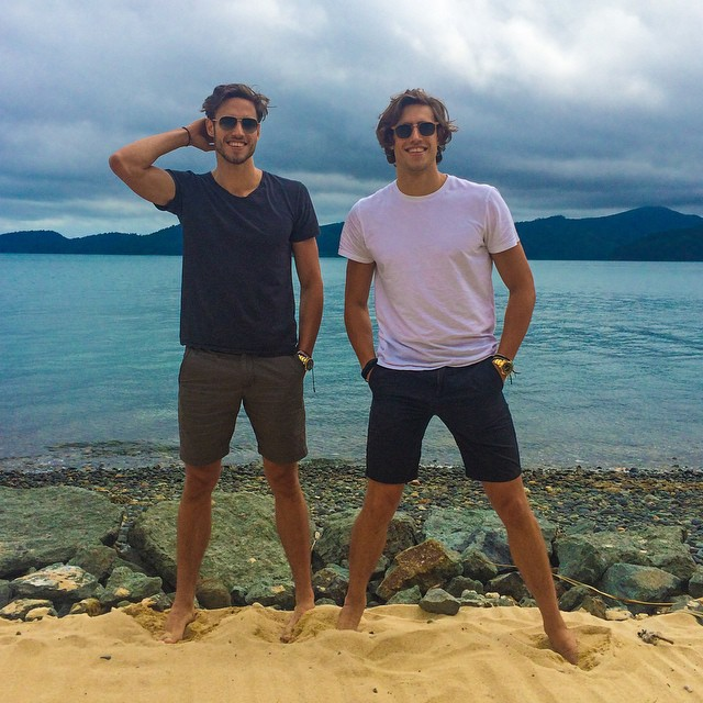 Jordan and Zac Stenmark hit the beach.