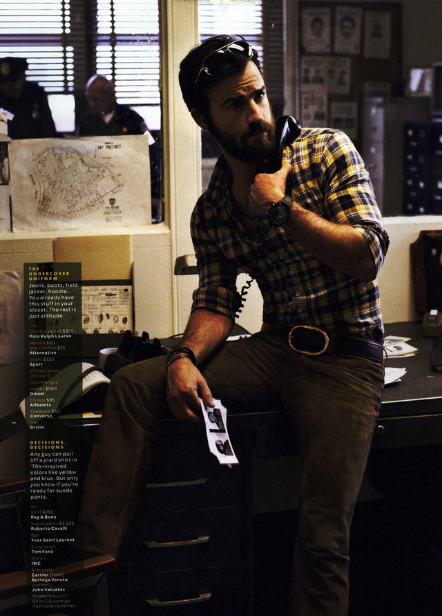 Justin Theroux for GQ October 2011 Issue