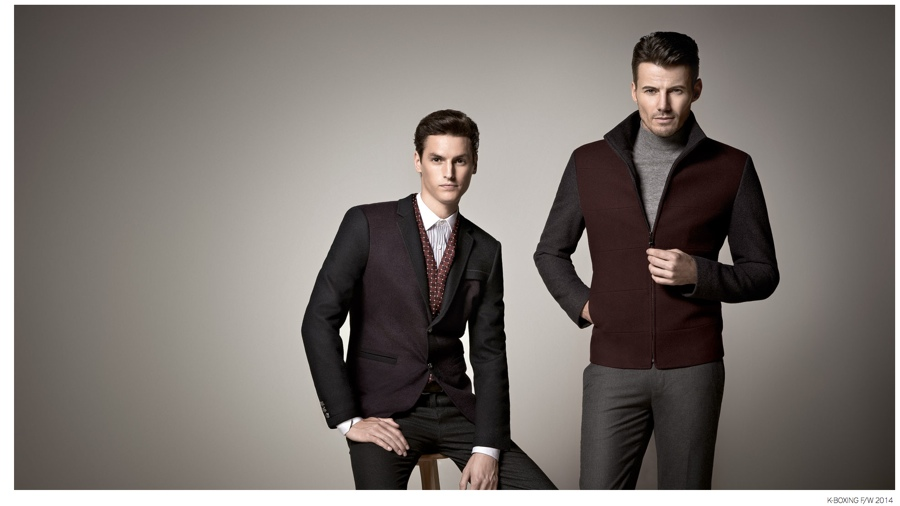 Alex Lundqvist + Mathias Bergh Step Out in Autumnal Hues for K-Boxing Fall 2014