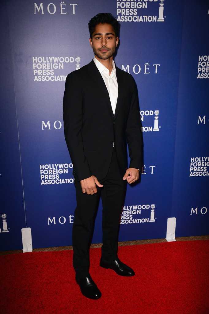 Rising star Manish Dayal goes for a relaxed suiting look, wearing a tailored ensemble sans tie.