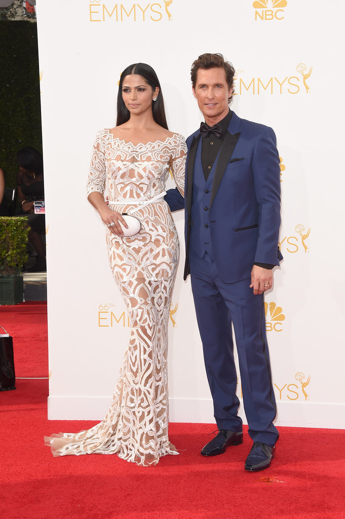 Matthew McConaughey makes a blue statement courtesy of Dolce & Gabbana. The 'True Detective' actor was joined by Camila Alves.