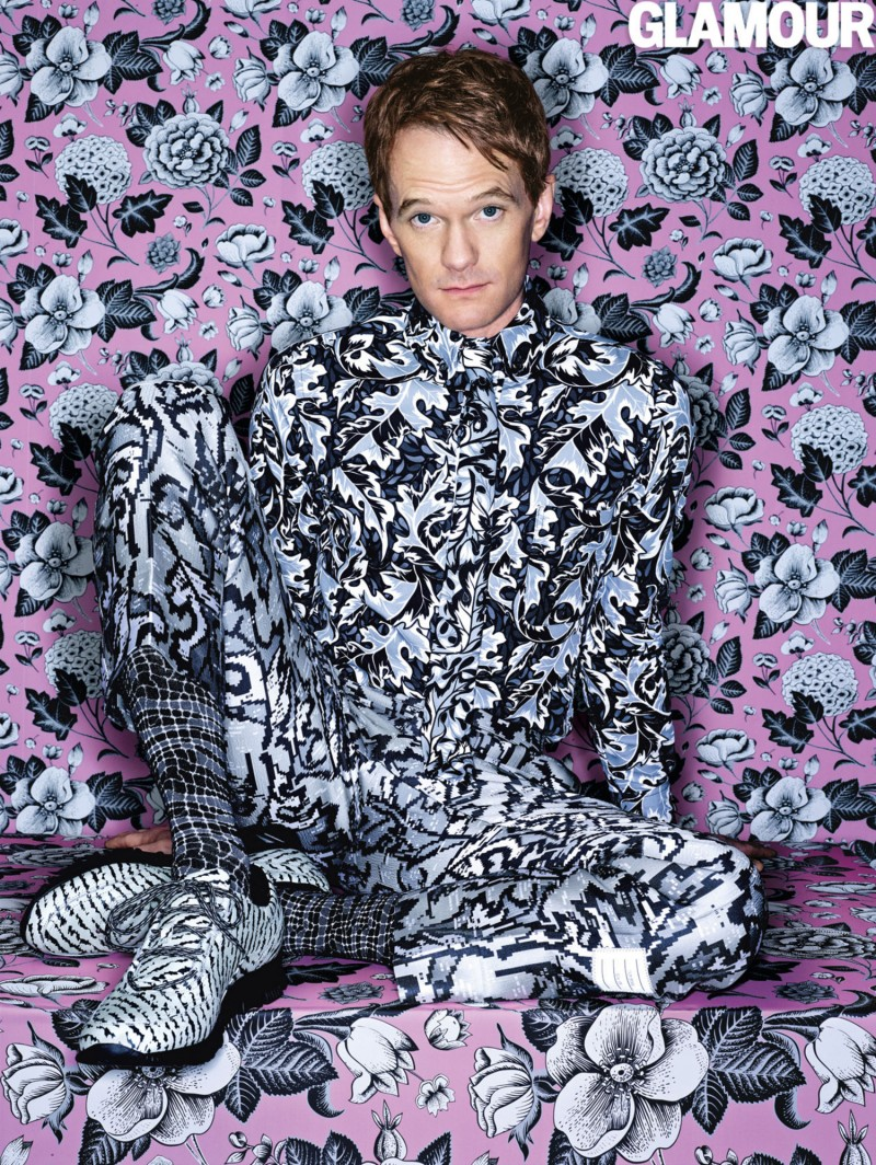 Neil Patrick Harris photographed by Mark Seliger in a fall/winter 2014 look from Thom Browne