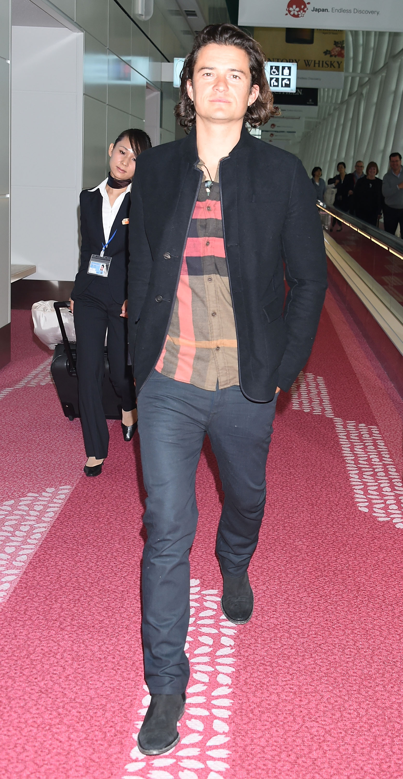 Orlando Bloom Spotted in Burberry Jacket