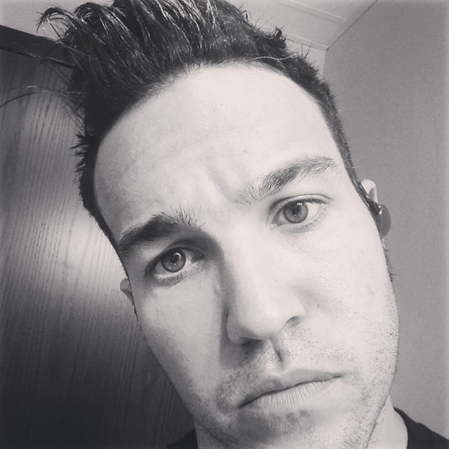 Pete Wentz two weeks ago before he went blond and got a cut.