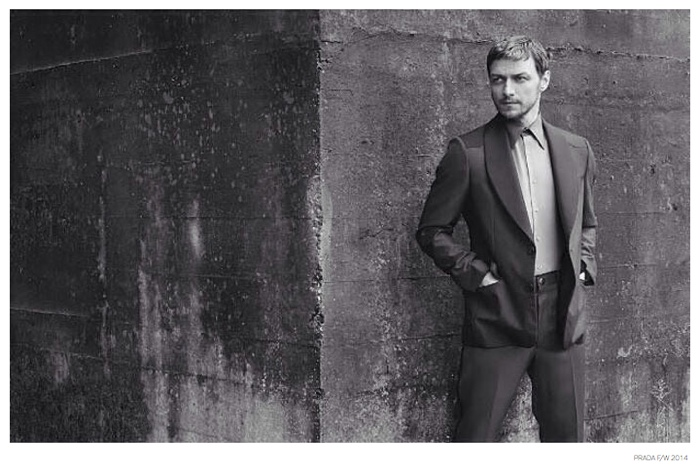 Hugh Jackman Pokes Fun at James McAvoys Prada Fall 2014 Campaign image