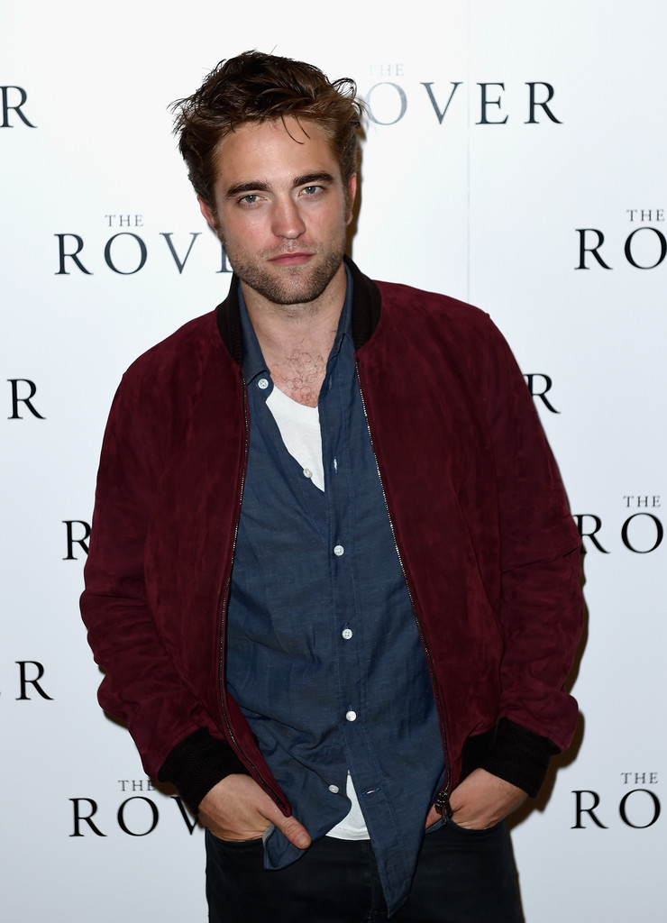 Robert Pattinson Attends 'The Rover' Screening in Gucci Suede Bomber Jacket