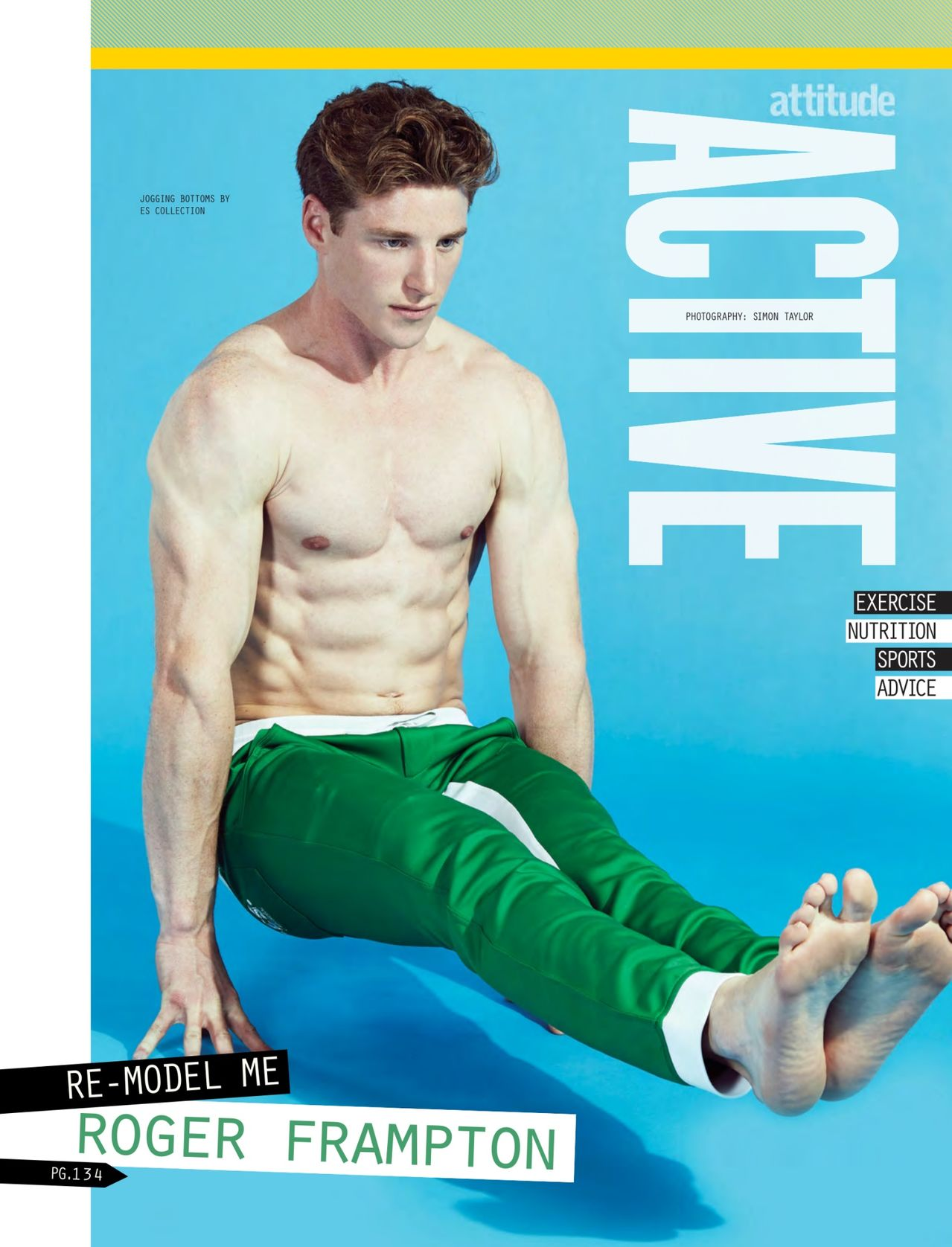 Roger Frampton Gets Active for Attitude August 2014 Issue