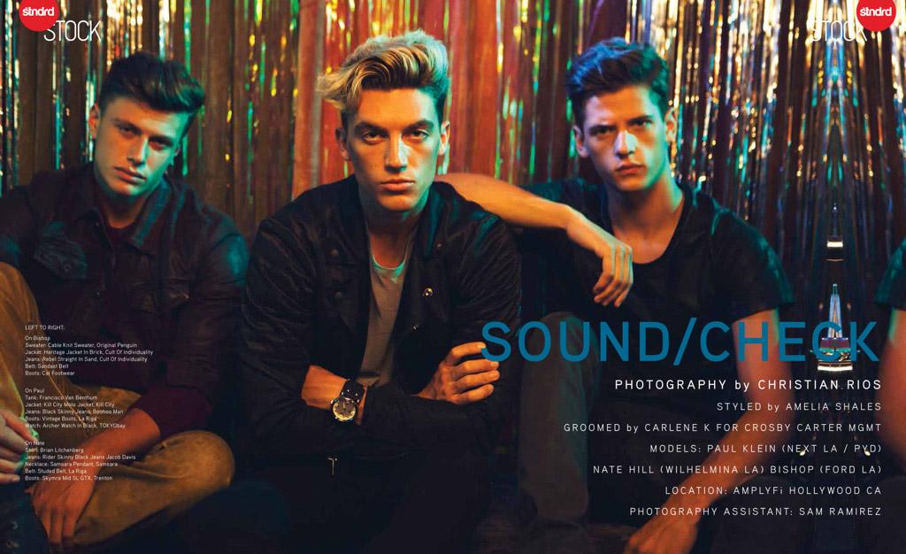 Paul Klein, Nate Hill & Bishop in 'Sound/Check' for Stndrd Magazine