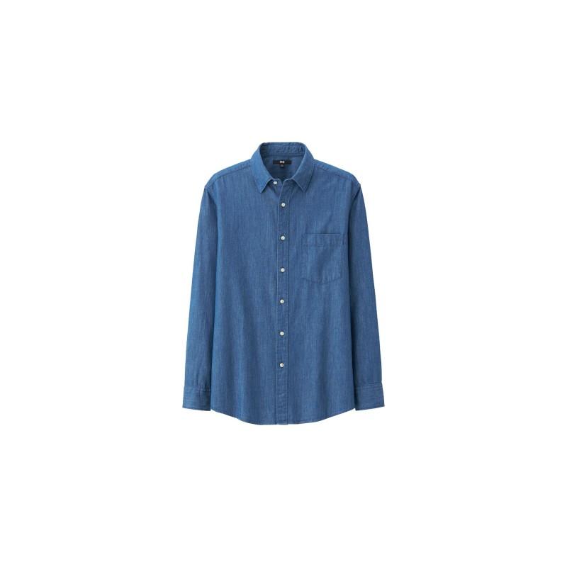 UNIQLO-Denim-Shirt-Long-Sleeve
