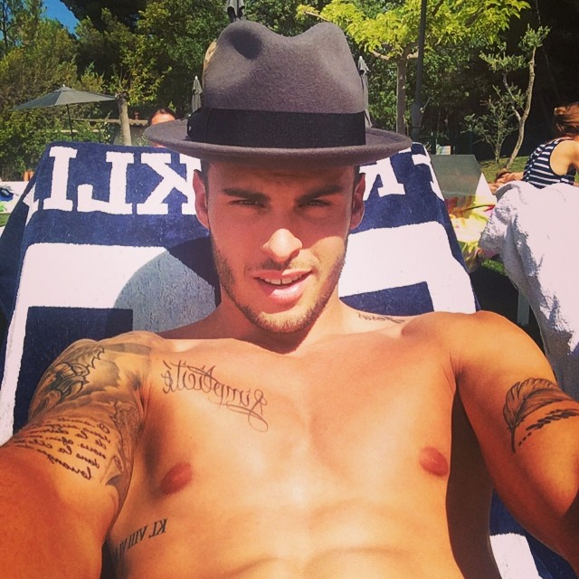 Baptiste Giabiconi takes a moment to enjoy his summer.