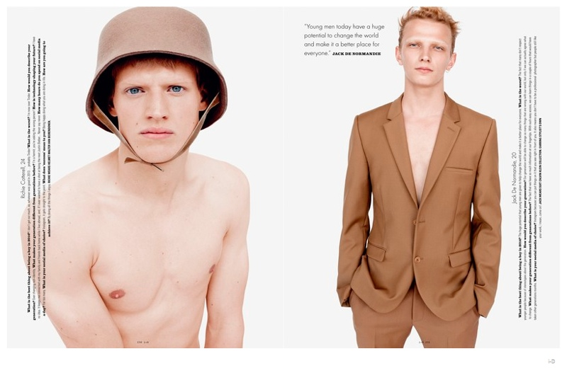 Reid Rohling, Richie Cotterell, Joel Meacock + More Embrace Nude Tones for i-D Fashion Editorial