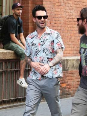 Adam enjoys a stroll in New York on September 4th.
