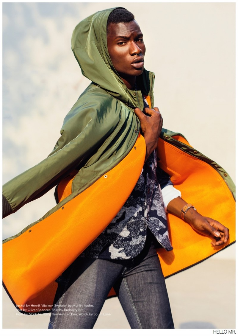 adonis bosso hits the basketball court for hello mr magazine