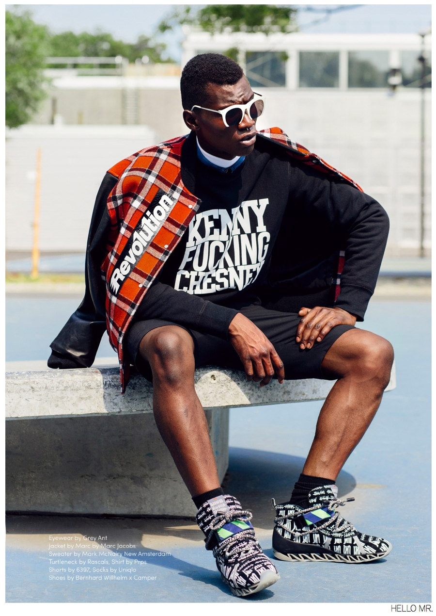 Adonis Bosso Hits The Basketball Court For Hello Mr