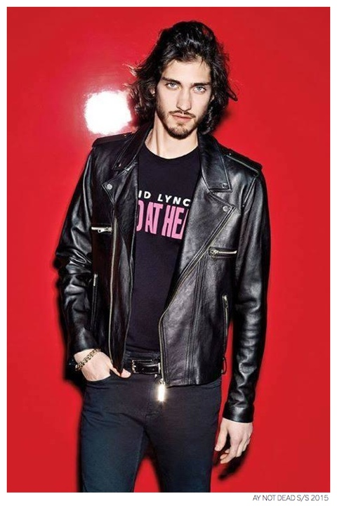 Andres Risso Rocks Leather Jackets + Slim Suiting for AY Not Dead Spring/Summer 2015