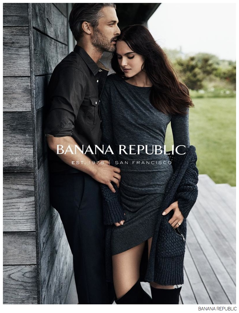 ben hill joins girlfriend zuzana for banana republic fall