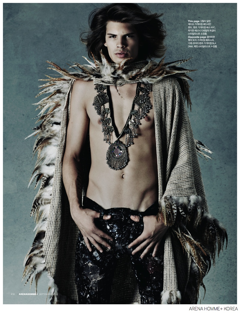 Cameron Keesling is a Modern-Day Jim Morrison for Arena Homme+ Korea
