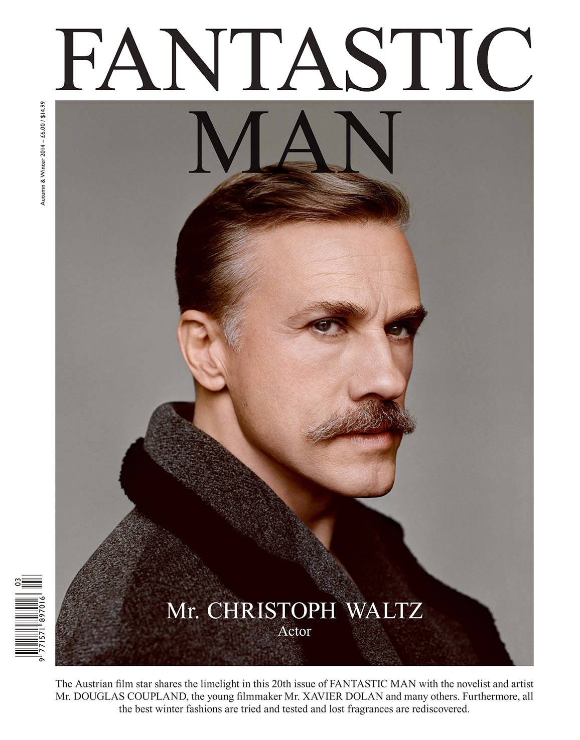 Christoph Waltz Fantastic Man 001  Lost Person Poster