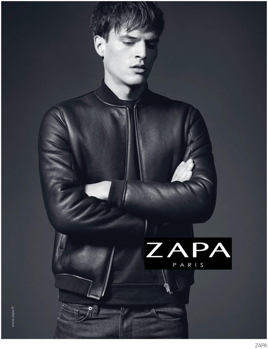 Christopher Michaut Models Suits + Leather Jacket for Zapa Fall 2014 Campaign