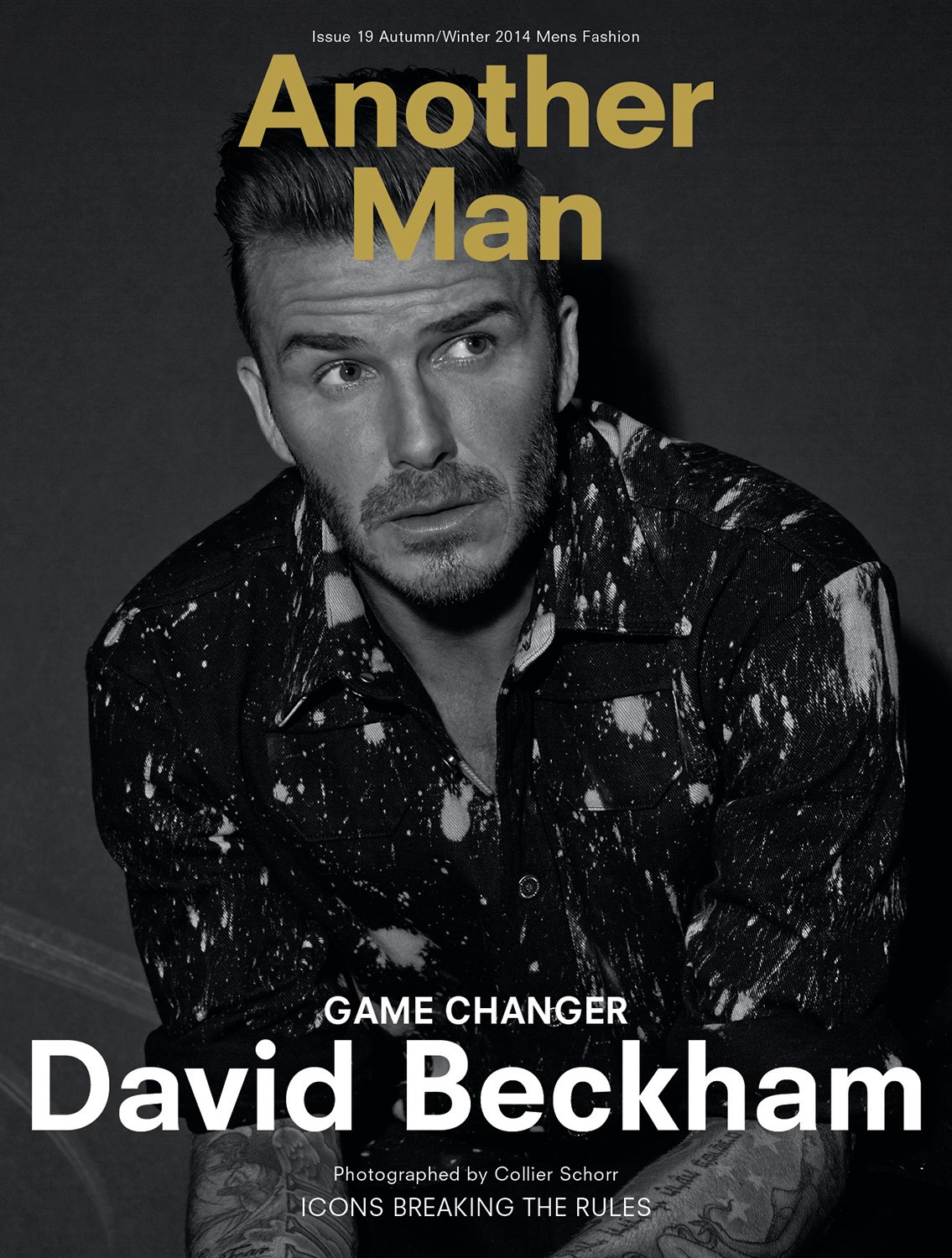 David Beckham Covers AnOther Man Fall/Winter 2014 Issue