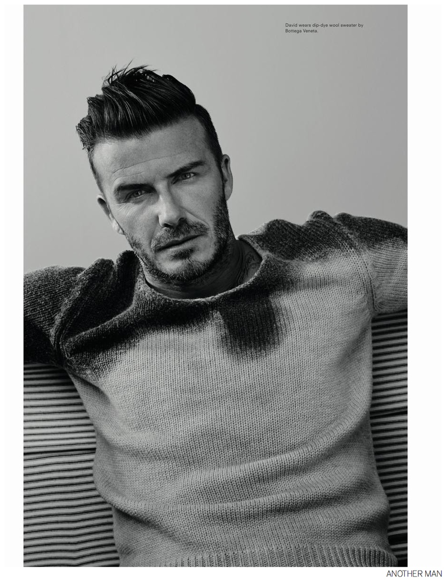 David Beckham Poses for Moody AnOther Man Images