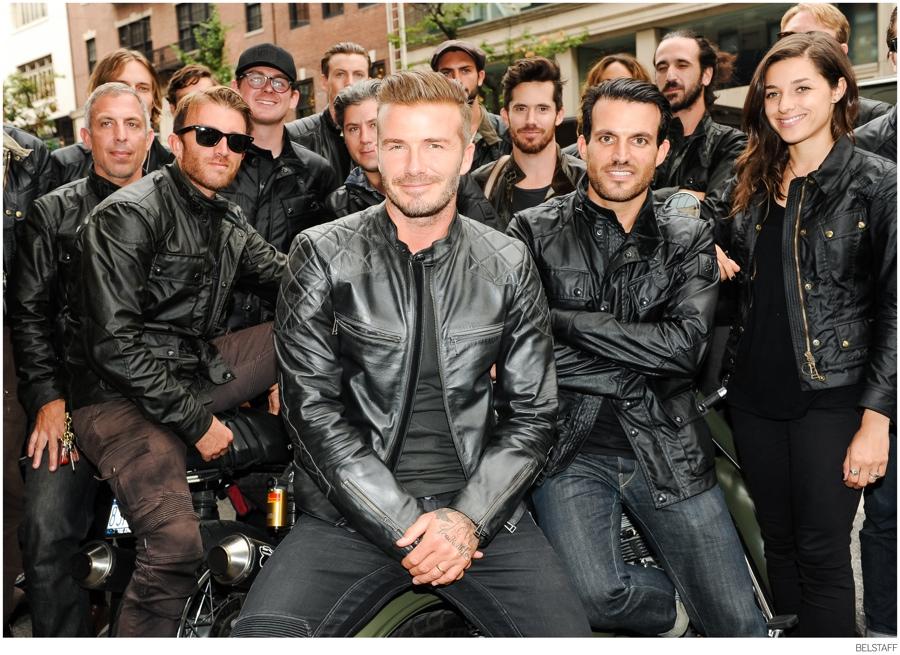 David Beckham + Belstaff Celebrate Peter Lindbergh's Photography Book 'Off Road'