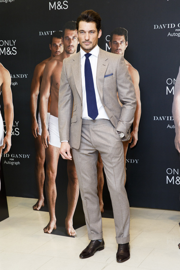 David Gandy Poses with...