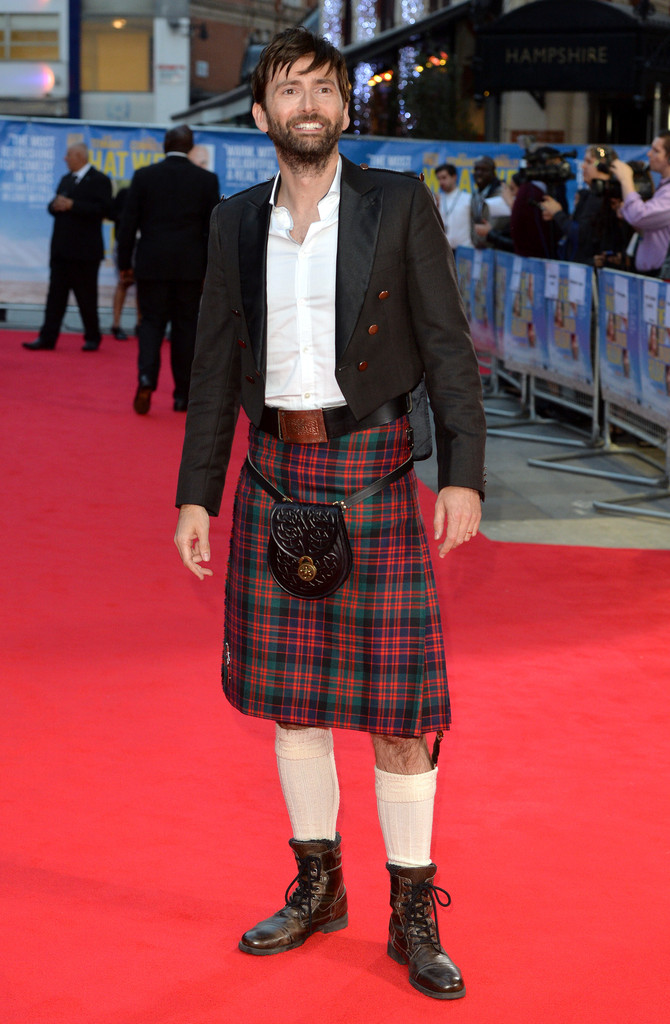 David Tennant Wears Kilt to 'What We Did On Our Holiday' Premiere