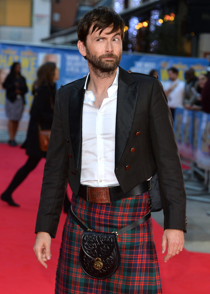 David Tennant Wears Kilt To What We Did On Our Holiday